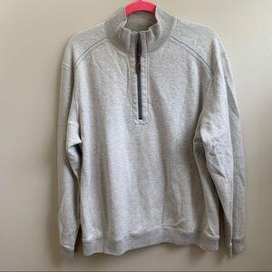 Tommy Bahama 1/2 zip shirt Reversible L